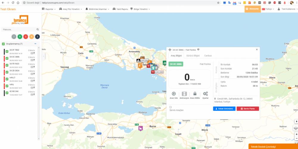 GPS Takip ekran görüntüleri